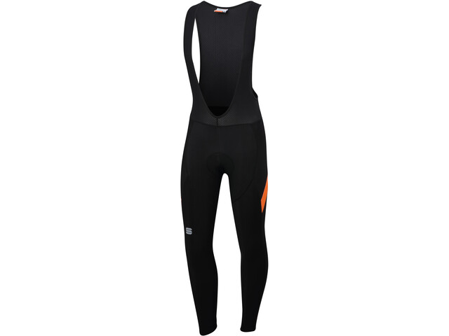 Sportful Neo Salopette Uomo, black/orange sdr